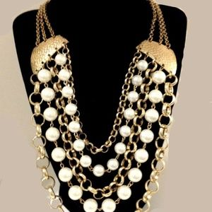 Multi Strand Chunky Necklace, 1980's Style